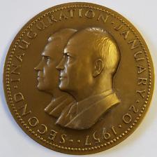 "Authentic POTUS VPOTUS Pres Eisenhower & Vice Pres Nixon 1957 Inauguration 2.75"""