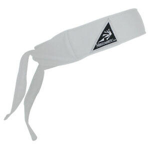 Headsweats Tiger's Tye Back Headband *White* with CoolMax *New with tags*