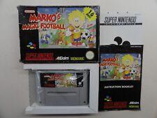 MARKO`S MAGIC FOOTBALL (S-NES)  komplett mit Anleitung und OVP***Multilang.***