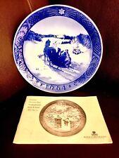 """Danese Royal Copenhagen 7""""/18cm PIASTRA CINESE """"ottenimento dell'albero di Natale"""" (1964)"""