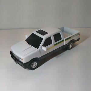 "Ertl John Deere Pickup Truck Diecast Plastic Metal White 8"" X 3"" w/ Hitch"