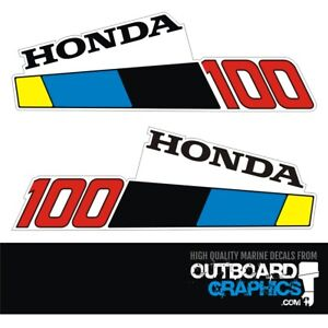 Honda 10hp BF100 4 stroke outboard engine decals/sticker kit