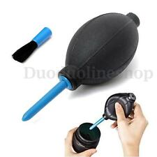 Rubber Bulb Air Pump Dust Blower Cleaning Cleaner +Brush For Digital Camera Lens