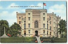 Old Louisiana State Capitol at Baton Rouge - 1940s Linen Postcard