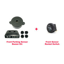 CISBO Front 4 Parking Sensors Buzzer Kit with Rocket Switch (SB373-4 B)