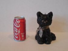 """Vtg NORTHERN LIGHTS Wax CANDLE Unlit COLLECTOR SERIES 7"""" BLACK CAT Artist Signed"""