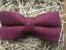 Burgundy Mens Bow Tie / Flecked Wool Bow Tie / Red Wool Bow Tie / Ties For Men