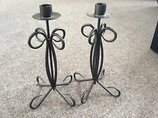 Pair of Metal Candlesticks