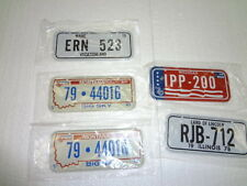Cereal License Plates from 1978  New Lot of 5