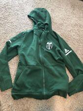 Adidas Portland Timbers MLS Soccer Green Zip-Up Hoodie Hooded Sweatshirt Large