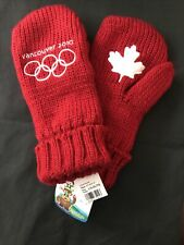 Vancouver 2010 Olympics Red Mittens Adult LG/XLG NEW