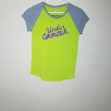 Under Armour Girl YLG Youth L Shirt Heat Gear Logo Loose Gym Athletic