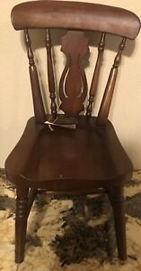 """WOOD CHAIR FOR DOLLS.  15 1/2"""" Top To Bottom"""