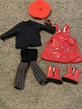 American Girl Doll Red Dress Set