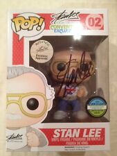 MARVEL STAN LEE SIGNED FUNKO POP VINYL FIGURE UK LONDON FILM COMIC CON EXCLUSIVE