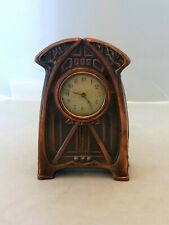 ART NOUVEAU Woman Clock, Copper