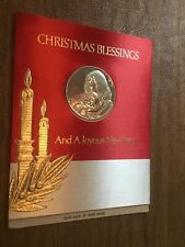 1967 Franklin Mint Christmas Blessing & New Year Medal & Card