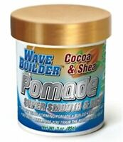 WaveBuilder Cocoa - Shea Super Smooth - Rich Pomade, 3 oz (Pack of 2)