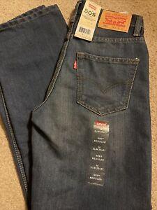 NWT Boys Levi's 505 Regular Jeans Size 14 Slim