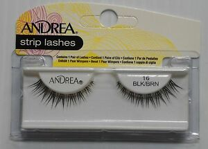 Andrea's Strip Lashes Fashion Eye Lash Style 16 Black/Brown - (Pack of 4)