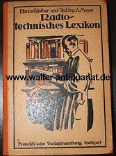 Radio TECNICA enciclopedia 1925 volte le espressioni radio-tecnica a-Z RARO!