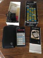 Texas Instruments SR-11 Calculator WORKING Box Case Instructions