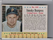 1963 POST CEREAL #144 SMOKY BURGESS PITTSBURGH PIRATES 7097A