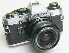OLYMPUS 'OM-10' 35mm FILM CAMERA + MIRANDA 28mm LENS - STUDENT STARTER CAMERA