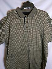 Cutter & Buck Mens L/T SS Brown/Black Diamond Print Golf Shirt **Free Shipping**