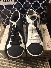 Skechers Wedge Heel Sneaker Juniors Girls/womens Sz 8 1/2 White And Black