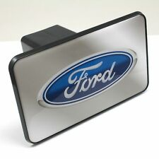 """Ford Oval Logo Tow Hitch Cover Plug w/pin for Car-Truck-SUV 2"""" Receiver"""