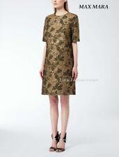 ❄New# MAX MARA Gold Brocade Style Dress size 8 USA_ 10 GB_ 38 D_ 42 I_  40 F