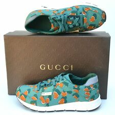 GUCCI New sz 41.5 G 12 Authentic Womens Designer Hearts Walking Shoes Sneakers