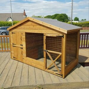 8 X 4ft Wooden Dog Kennel And Run/ Cattery/Dog Run/Rabbit Run/Rabbit Enclosure
