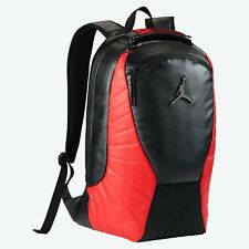 "Nike Air Jordan Retro 12 FLU GAME Backpack ""BRED""  Black Gym Red  SHIPS BOXED!"