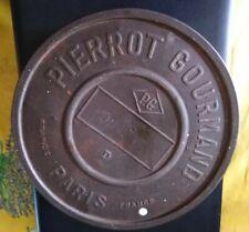 Ancienne boite PIERROT GOURMAND en Tôle ronde 20 cm Sucettes/Epicerie