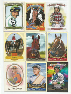 56 Horse Racing Card Lot (No Dupes/ With Minis & Memorabilia) (2009-2018) (NM)