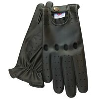 New retro style quality soft leather men's driving gloves unlined chauffeur 502