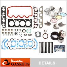 00-04 Ford Focus 2.0L Full Gaskets+Head Bolt Piston Bearing&Ring+Timing Belt Kit