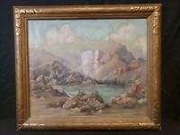 A D Macintyre (1890-1953) Listed Arizona Artist Desert Painting Oil on Canvas