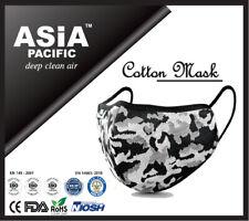 Premium Reusable 5 Layers Cotton Face Mask Silver (CE/FDA/NIOSH/ROHSCertified)