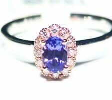 .71CT 14K Gold Natural Tanzanite Diamond Vintage AAA Antique Engagement Ring