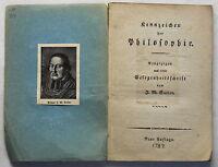 Sailer Kennzeichen der Philosophie 1787 Geisteswissenschaften Aufklärung xz