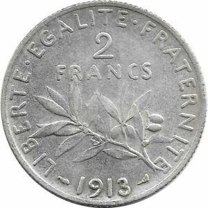 FRANCE 2 FRANCS SEMEUSE 1913 TTB+