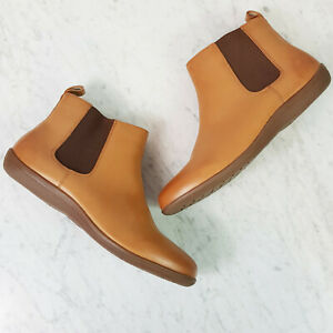 [ REVERE ] Womens Leather Ankle Boots OSLO in Tan As New | Size EUR 40 or US 9