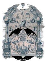 LIGHT AND TRUTH Masonic Chart Art ring Fellowcraft Master Mason Print Poster