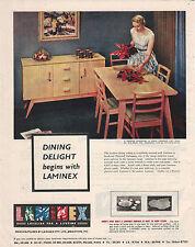 Retro Dinning Room Furniture Laminex 1954 Advertising