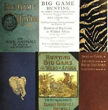African Big Game Hunting Safari Vintage Books on CD Roosevelt Selous East Africa