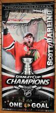 Scott Darling Chicago Blackhawks Signed Autographed Stanley Cup Champions Banner