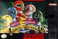 MIGHTY MORPHIN POWER RANGERS SNES SUPER NINTENDO GAME COSMETIC WEAR